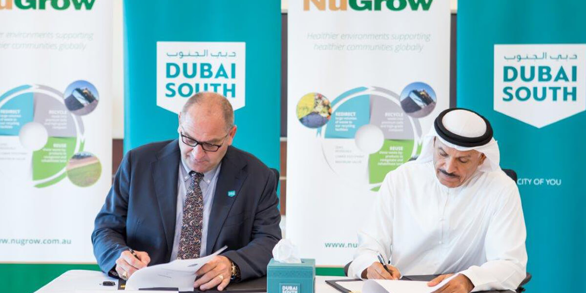 Signing ceremony of the Memorandum of Understanding between Dubai South and NuGrow