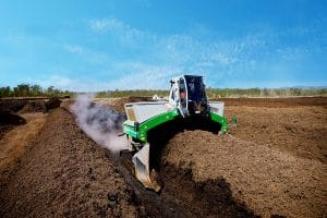 Recycling using windrow turning